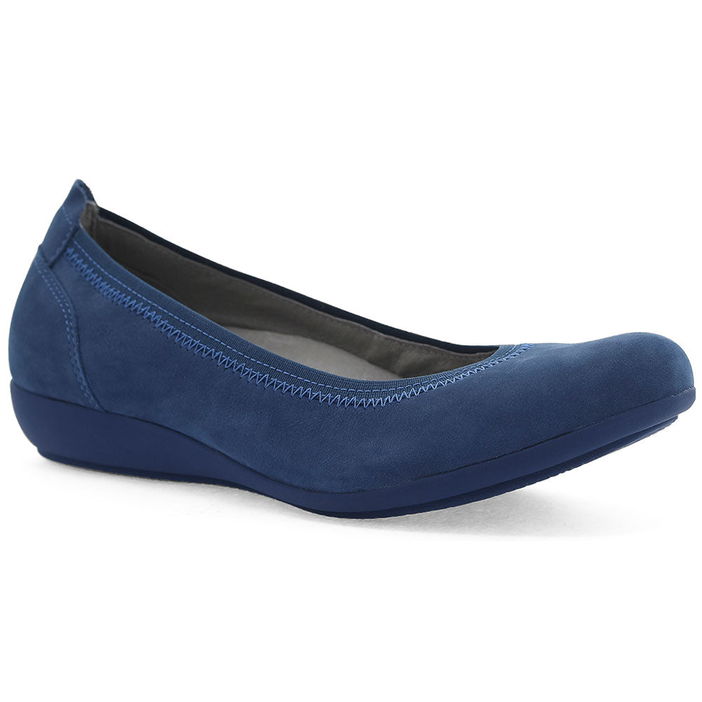 Kristen in Blue Milled Nubuck
