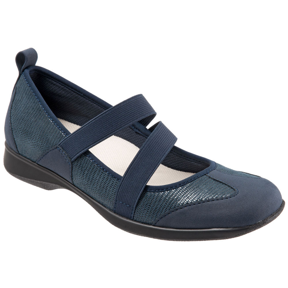 Josie in Dark Blue Lizard Leather