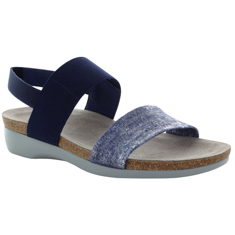 Pisces Sandal in Blue and Silver Metallic