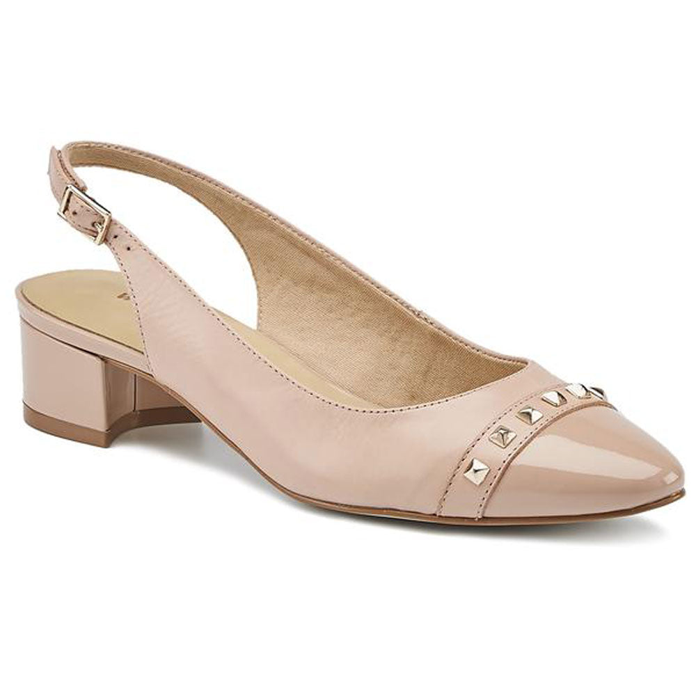 Hildee in Blush Leather/Patent Combi