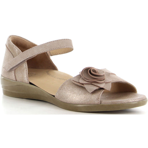Delta Sandal in Blush Matinee Leather