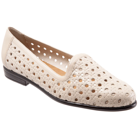 Trotters Liz Open Weave in Bone Leather at Mar-Lou Shoes