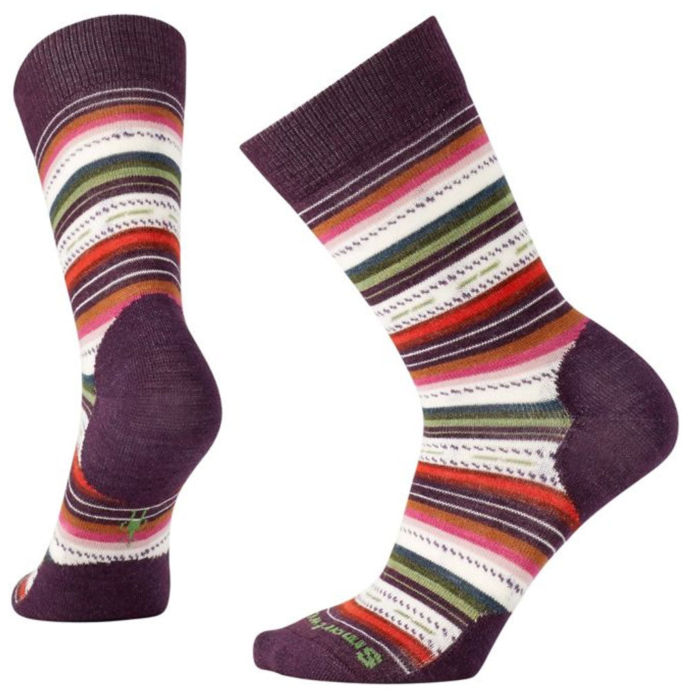 Margarita Socks in Bordeaux Heather
