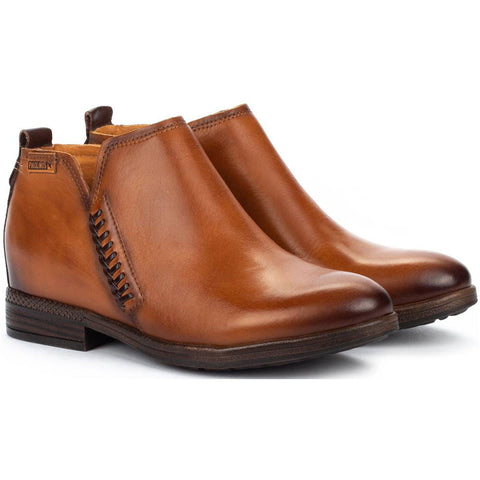 Pikolinos Ordino Booties in Brandy Leather at Mar-Lou Shoes