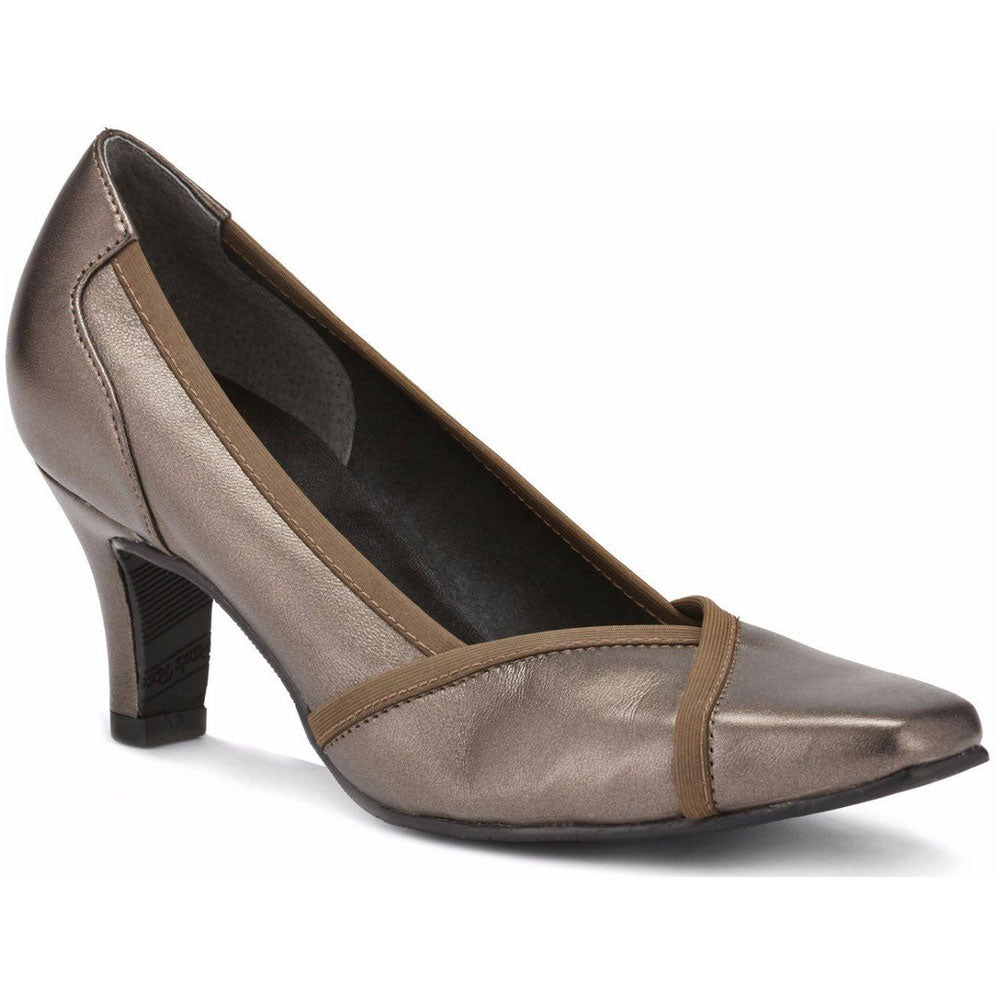 Rayna Pump in Bronze Leather
