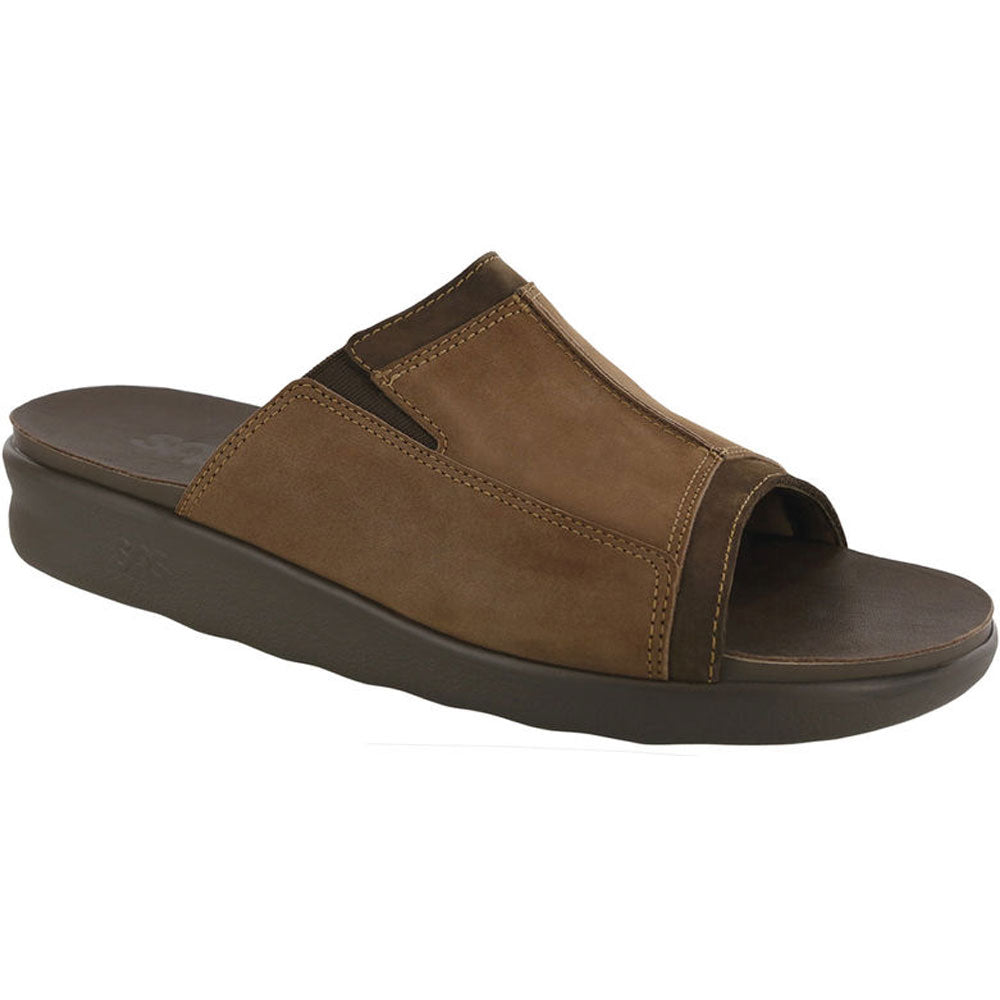 SAS Voyage Slide Sandal in Brown at Mar-Lou Shoes