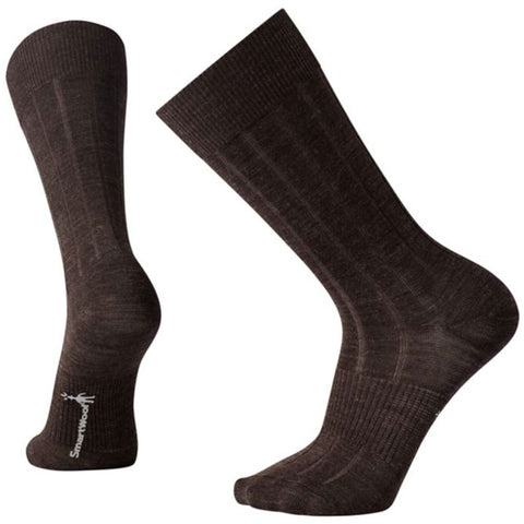 City Slicker Crew Socks in Chocolate