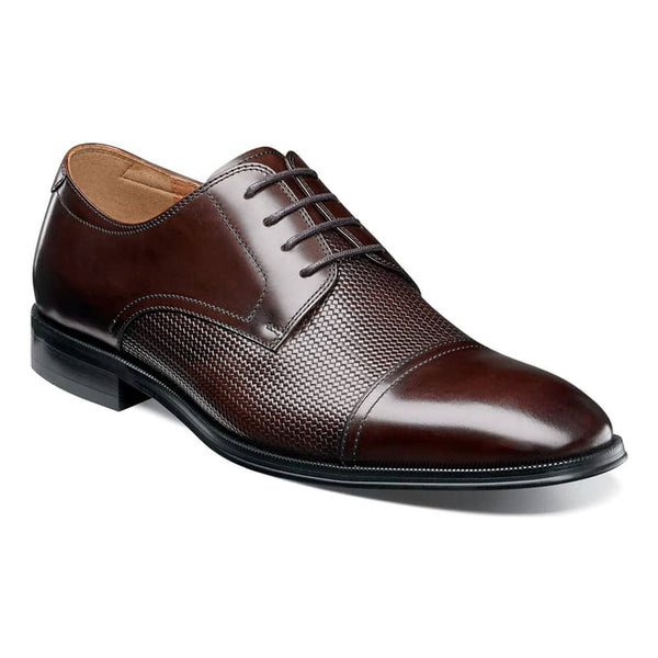 Belfast Cap Toe Oxford in Brown Leather