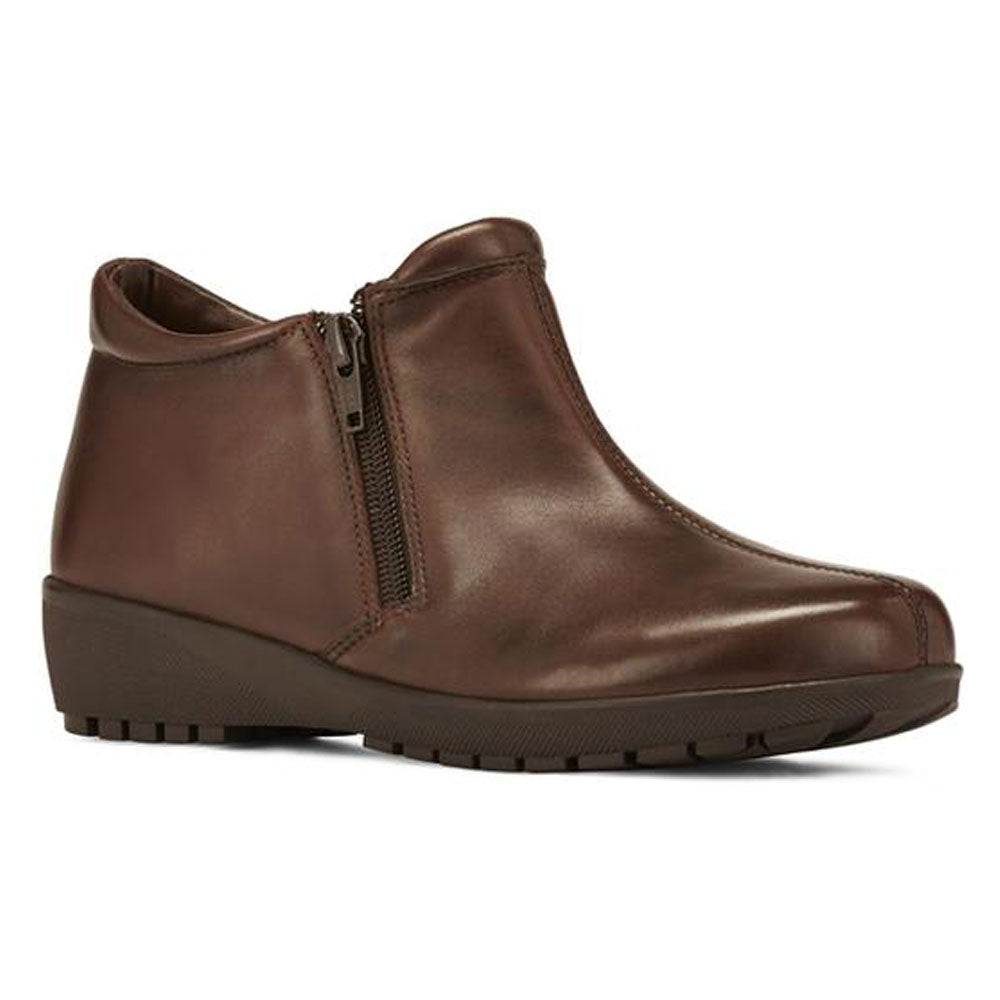 Zeno Bootie in Brown Leather