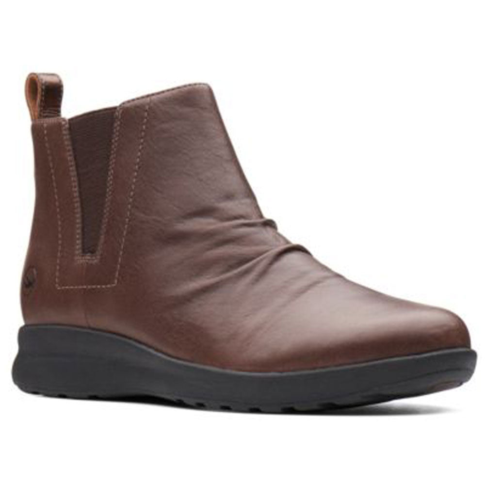 Un Adorn Mid Boot in Brown Leather
