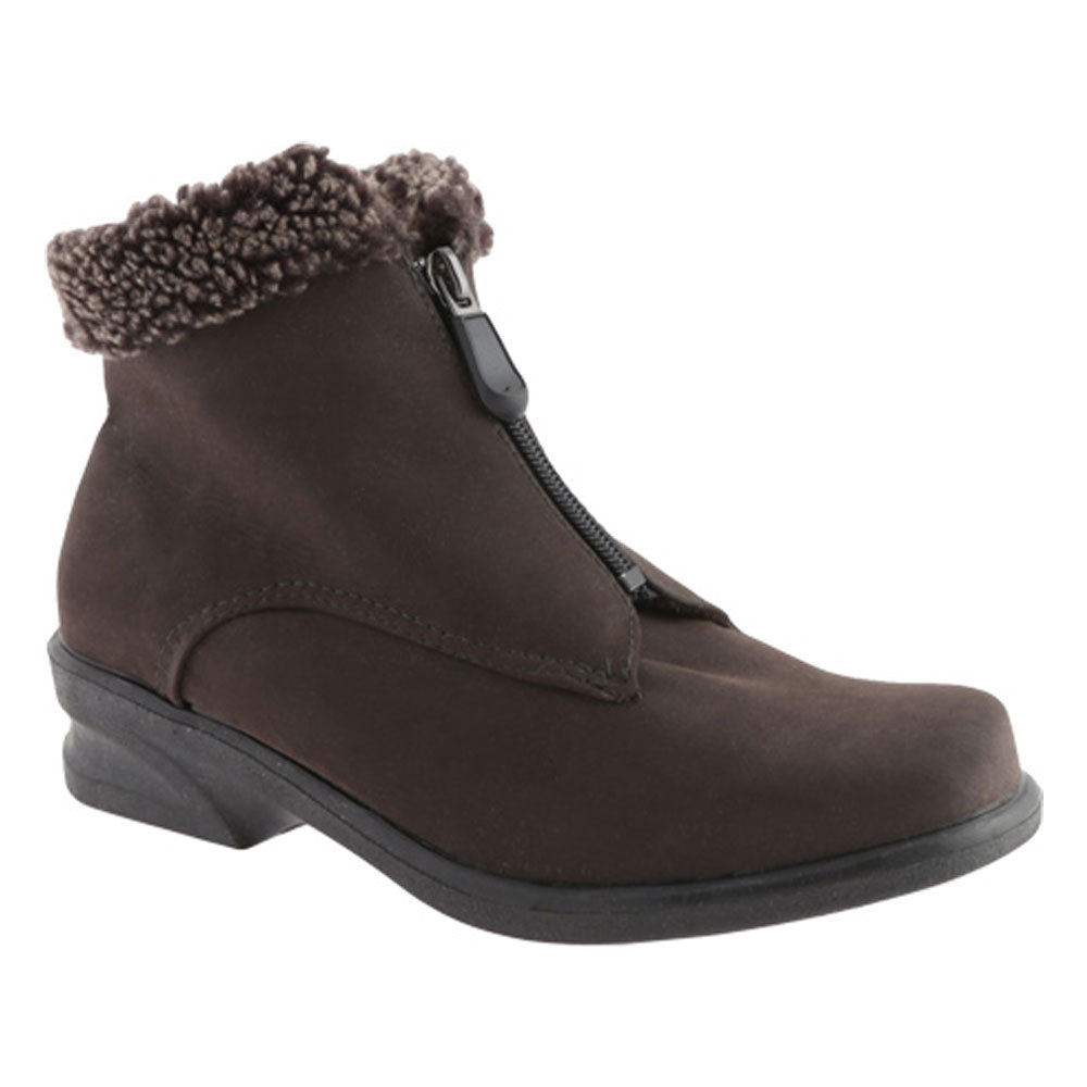 Toe Warmers Monique Waterproof Bootie in Brown at Mar-Lou Shoes