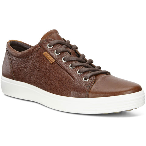 ECCO Men's Soft 7 Sneaker in Whisky Leather at Mar-Lou Shoes
