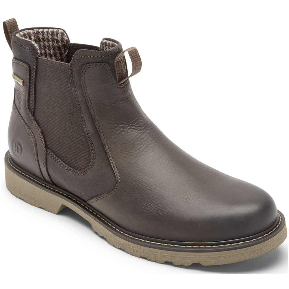 Jake Waterproof Chelsea Boot in Dark Brown Leather from Dunham found at Mar-Lou Shoes