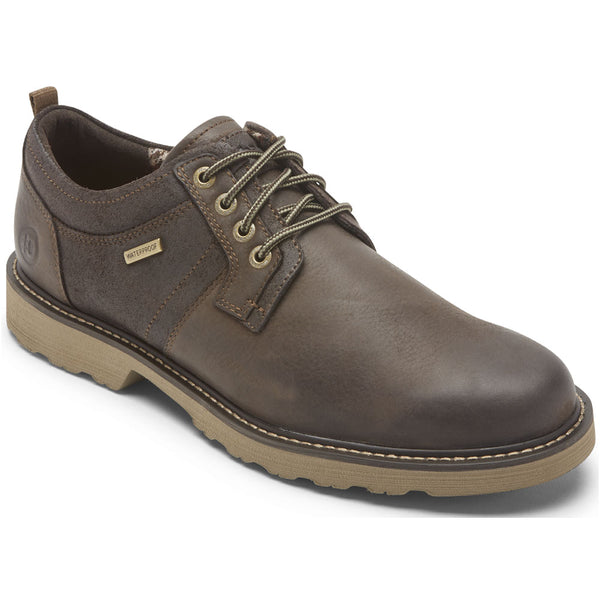 Jake Waterproof Oxford in Dark Brown Leather from Dunham found at Mar-Lou Shoes