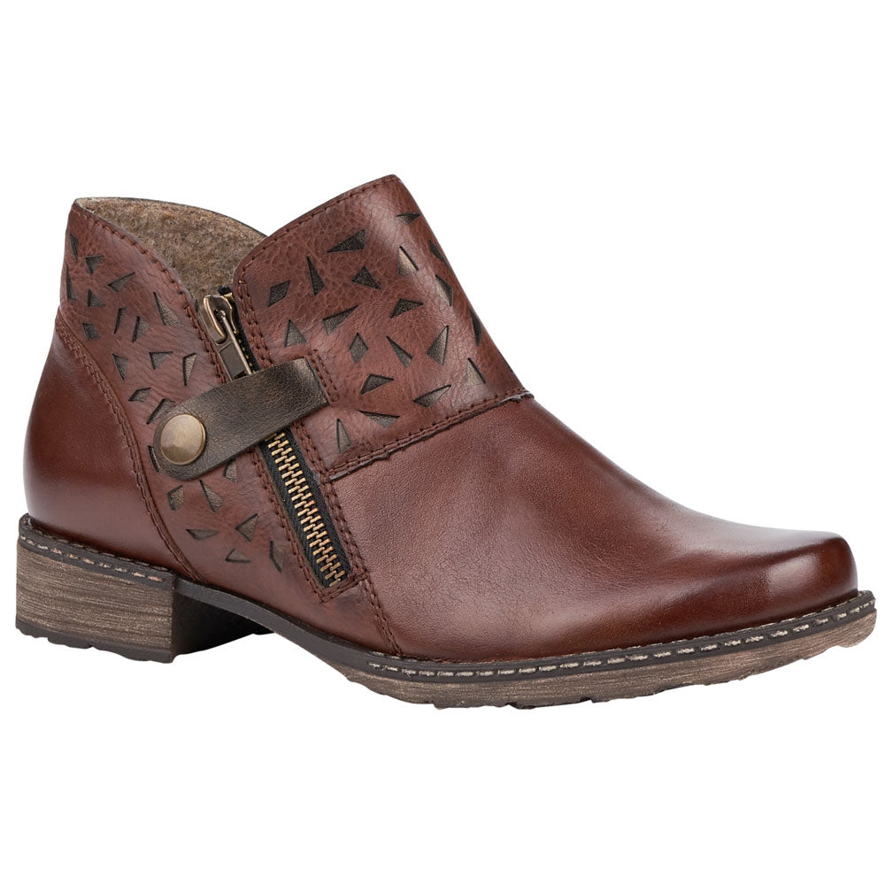 D4360 Bootie in Brown Combi Leather