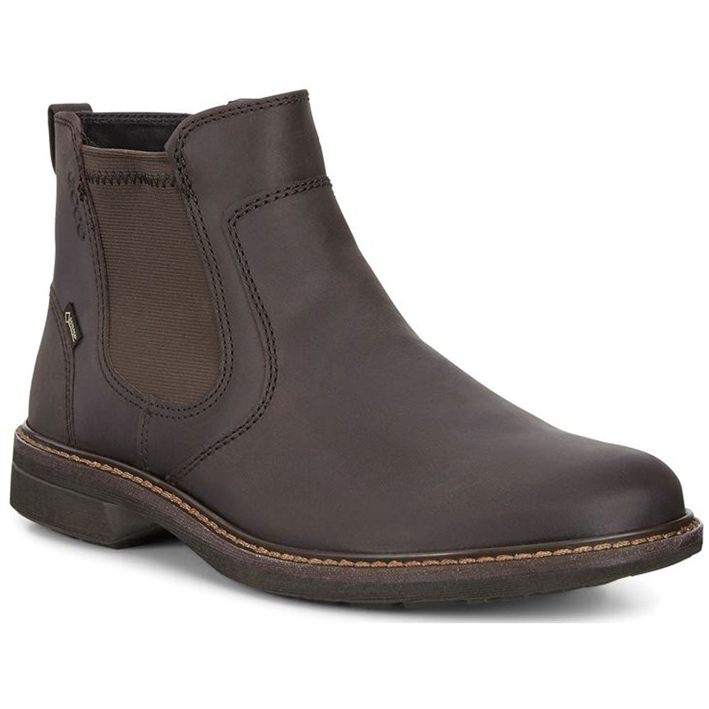 ECCO Turn GTX Waterproof Chukka Boot in Mocha Leather at Mar-Lou Shoes