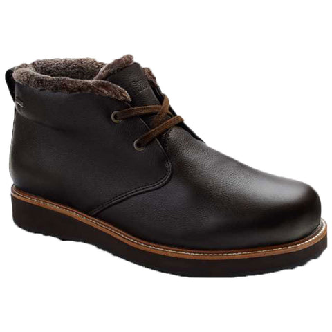 Samuel Hubbard Waterproof Winter's Day Boot in Espresso Brown Leather/Brown Davos Ice Sole at Mar-Lou Shoes