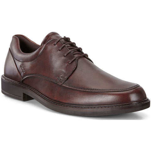 ECCO Holton Apron Toe Tie in Cocoa Brown Leather at Mar-Lou Shoes