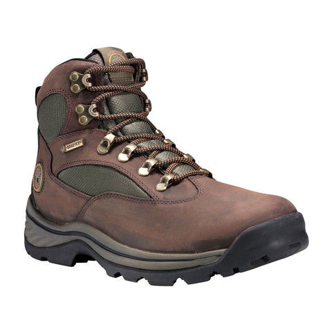 Chocorua Trail Mid Waterproof Hiking Boots in Dark Brown/Green Leather