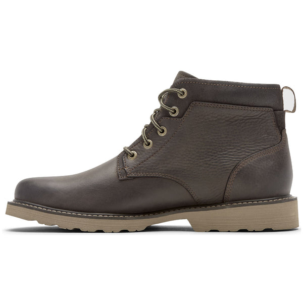 Jake Waterproof Plain Toe Boot in Brown Leather from Dunham found at Mar-Lou Shoes