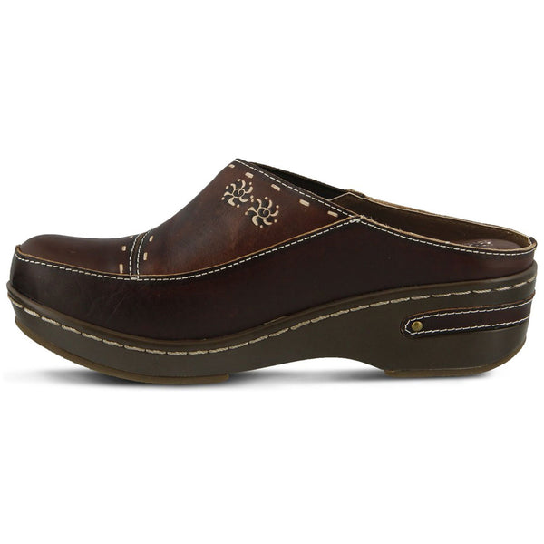 Chino Clog in Brown Leather