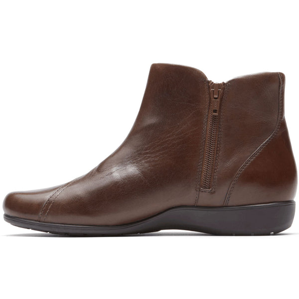 Aravon Anstice Bootie in Brown Leather at Mar-Lou Shoes