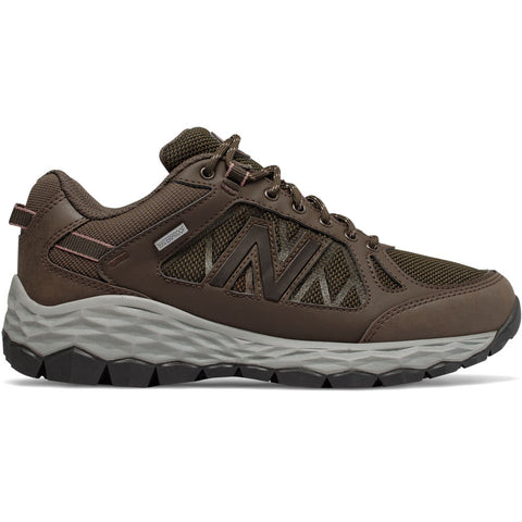 New Balance Women's 1350 in Waterproof Chocolate Brown with Team Away Grey at Mar-Lou Shoes