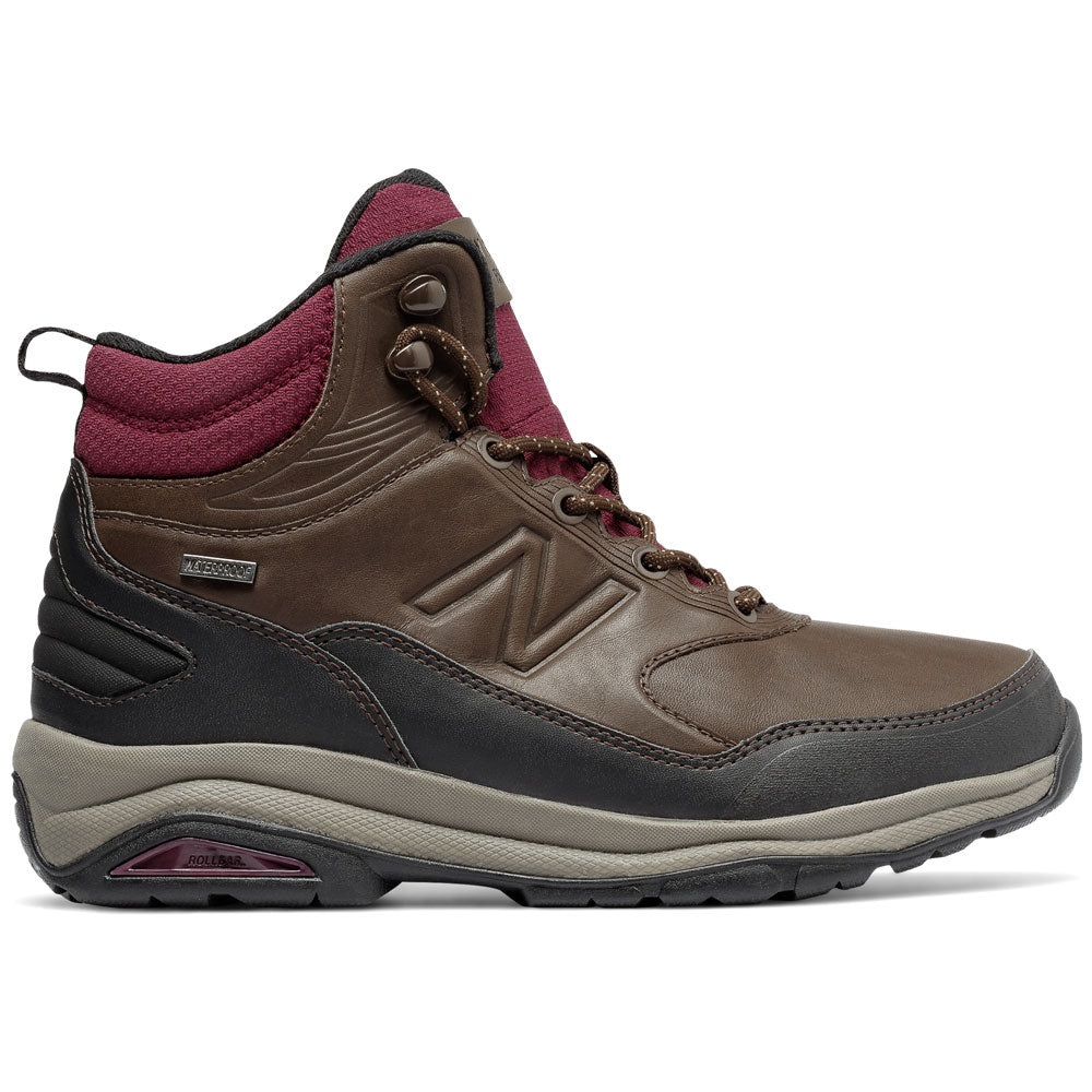 New Balance Women's 1400 Waterproof Boot in Dark Brown at Mar-Lou Shoes