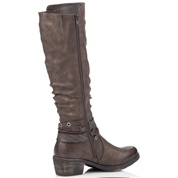Remonte R1770 Boot in Brown Leather at Mar-Lou Shoes