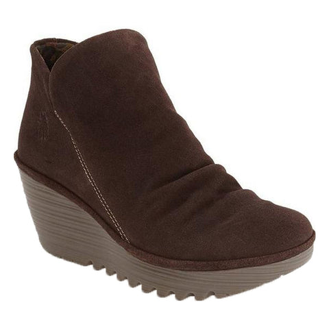 Yip Wedge Bootie in Expresso Oiled