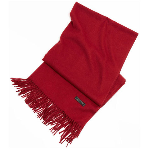 Look by M Soft Basic Cashmere Scarf in Burgundy at Mar-Lou Shoes