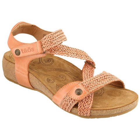 Taos Trulie Sandal in Cantaloupe Leather at Mar-Lou Shoes