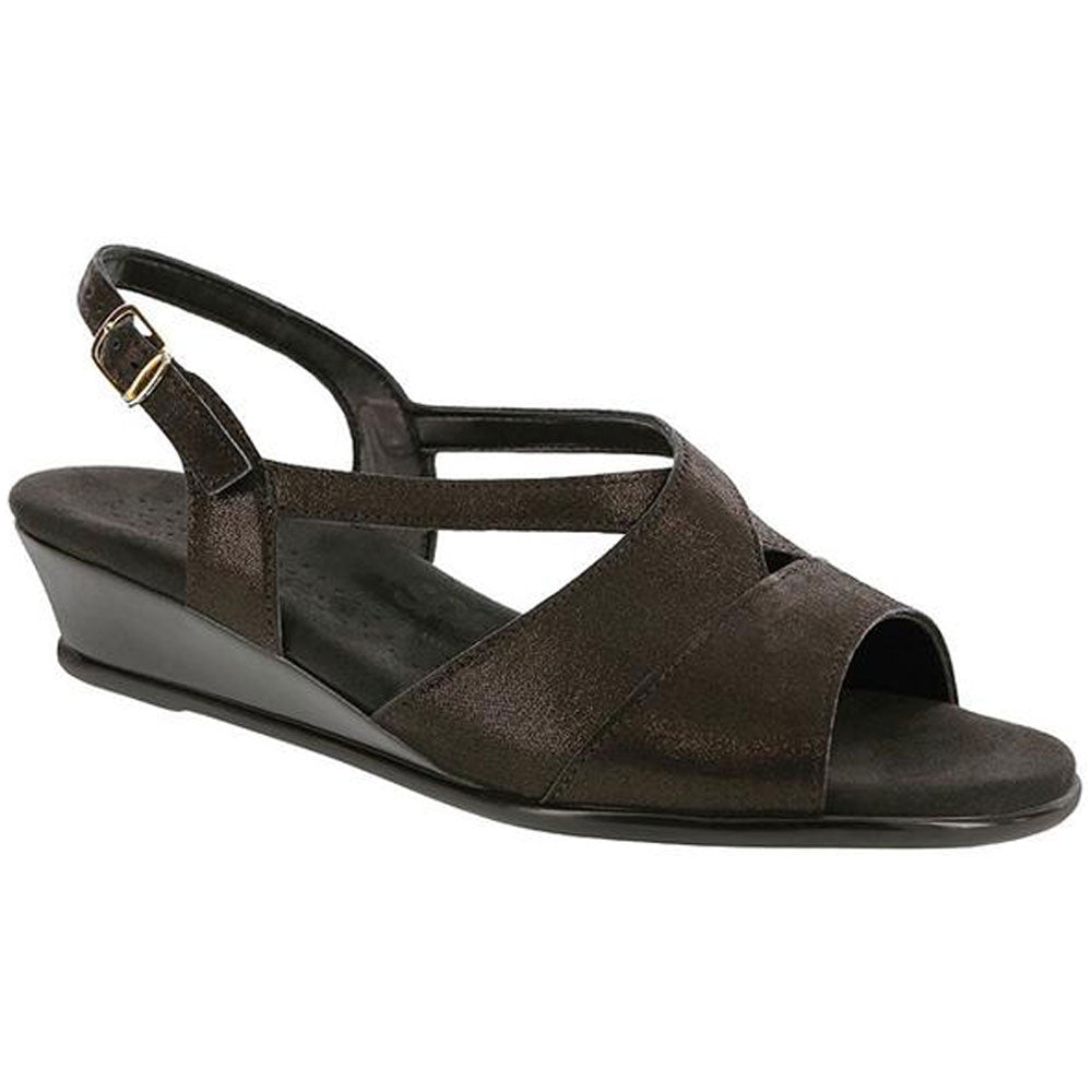 SAS Caress Space Nero Sandal in Brown Leather at Mar-Lou Shoes