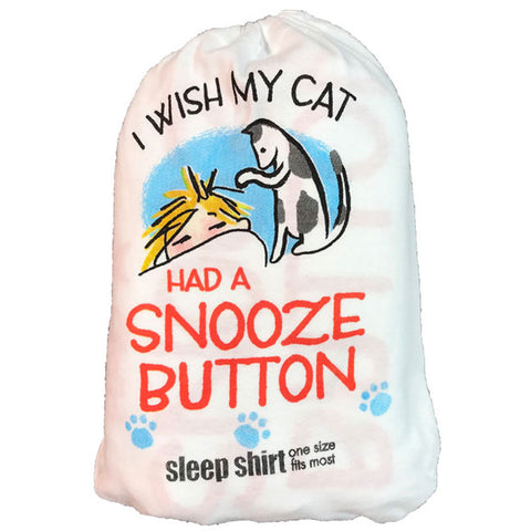 Cat Snooze Sleep Shirt