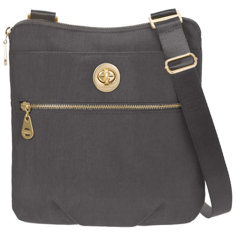baggallini Hanover Crossbody in Charcoal at Mar-Lou Shoes