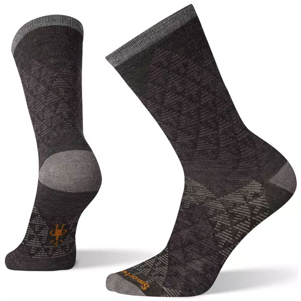 Smartwool Men's Pressure-Free Overland Crew Socks in Charcoal at Mar-Lou Shoes