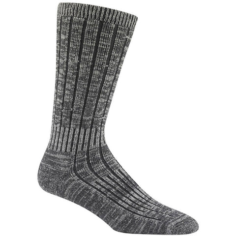 Women's Merino Silk Hiker Socks in Charcoal