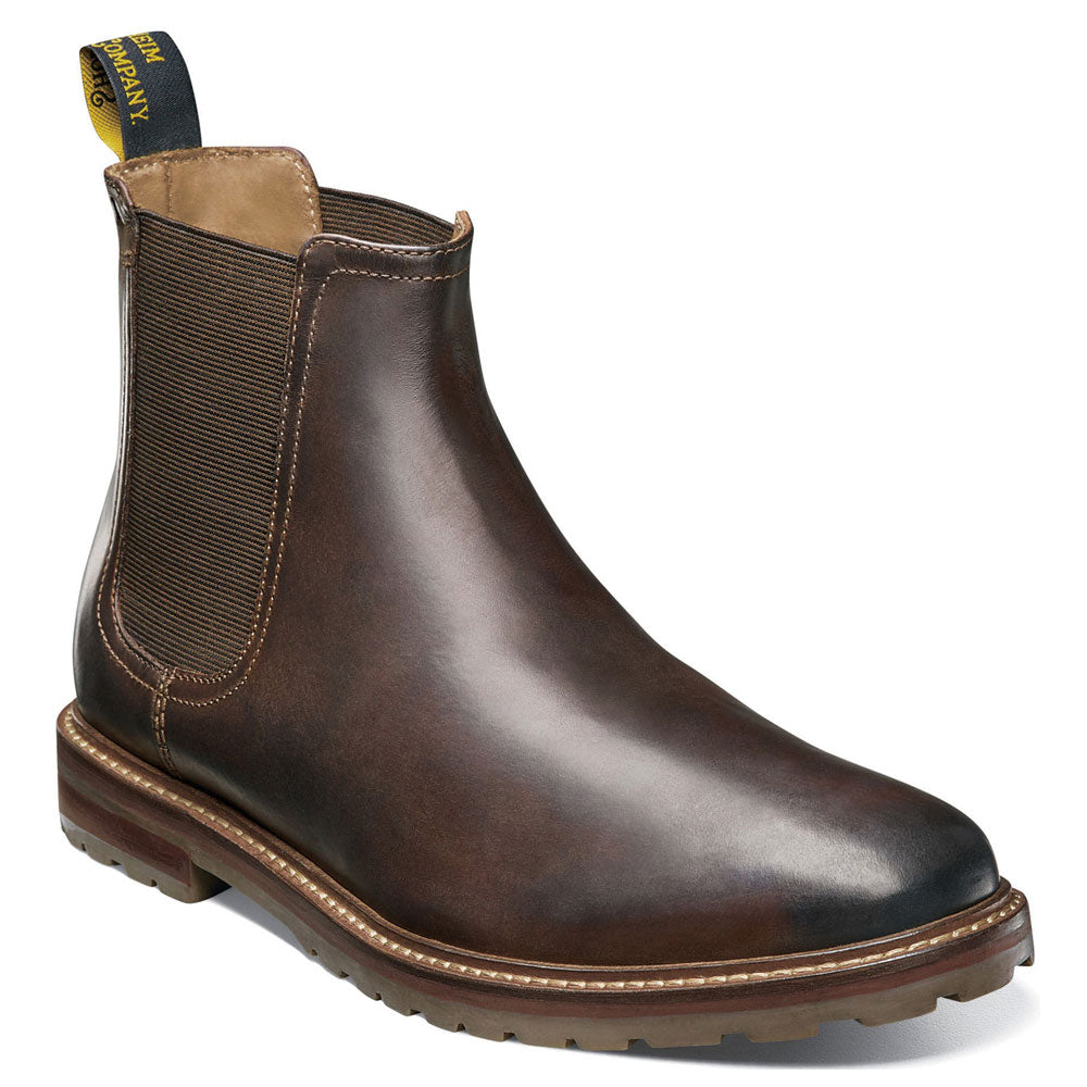 Estabrook Chelsea Boots in Brown Leather