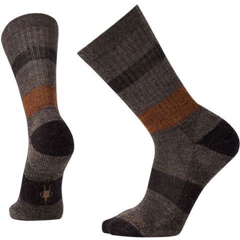 Men's Barnsley Crew Socks in Chestnut Heather