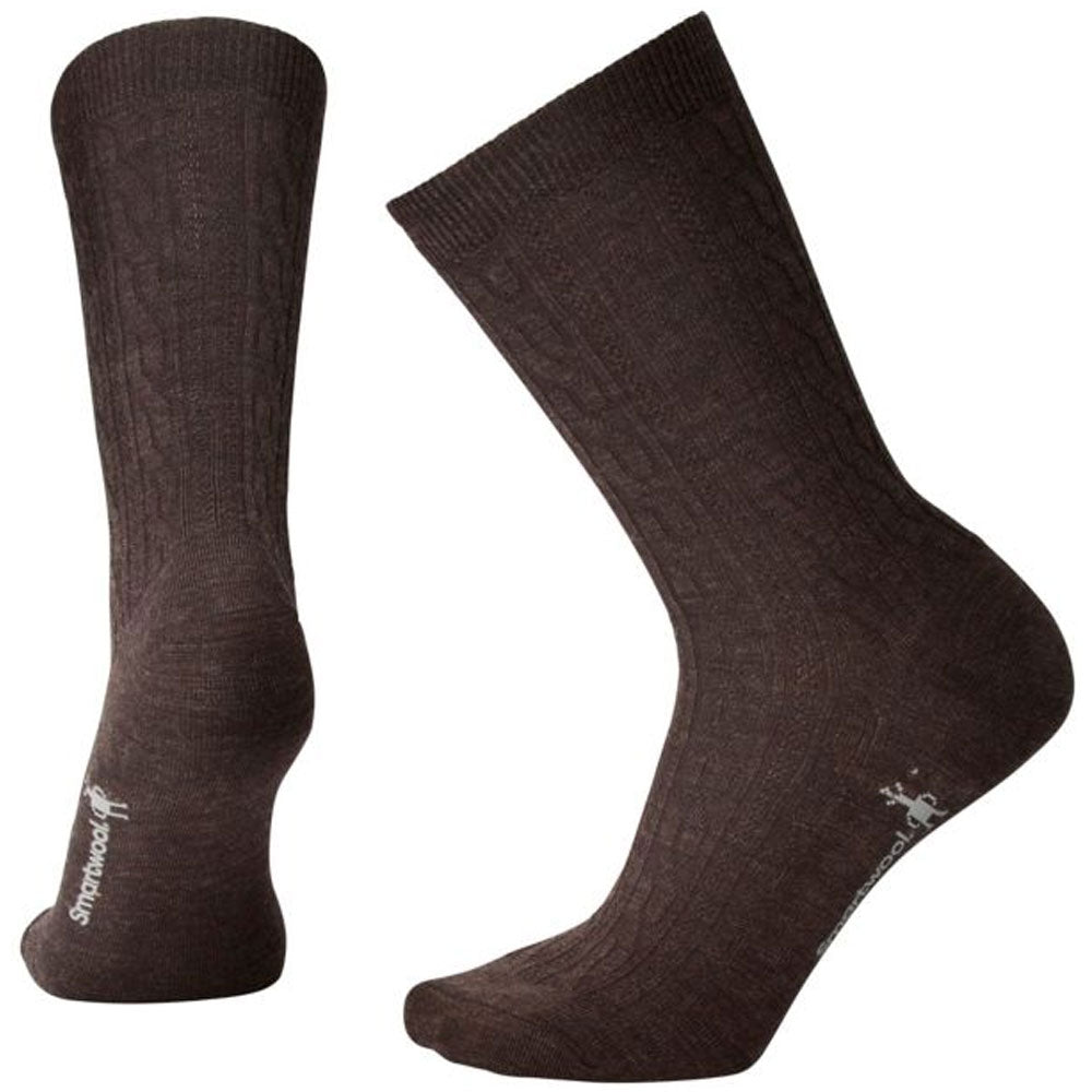 Women's Cable II Socks in Chestnut