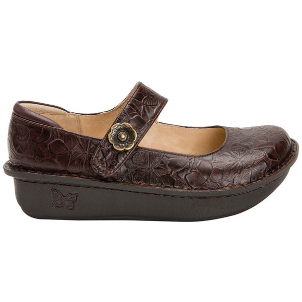 Alegria Paloma Mary Jane in Flutter Choco at Mar-Lou Shoes