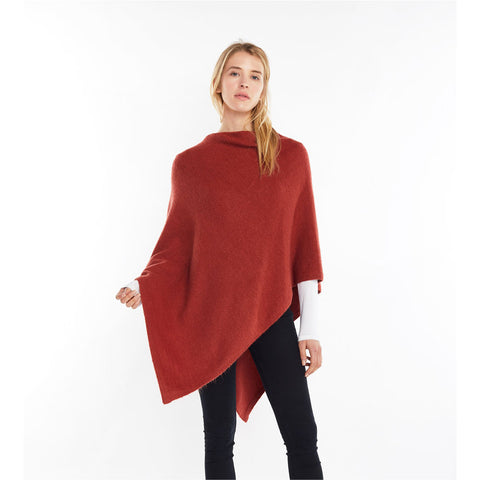Look by M Basic Cashmere Blend Poncho in Clay at Mar-Lou Shoes