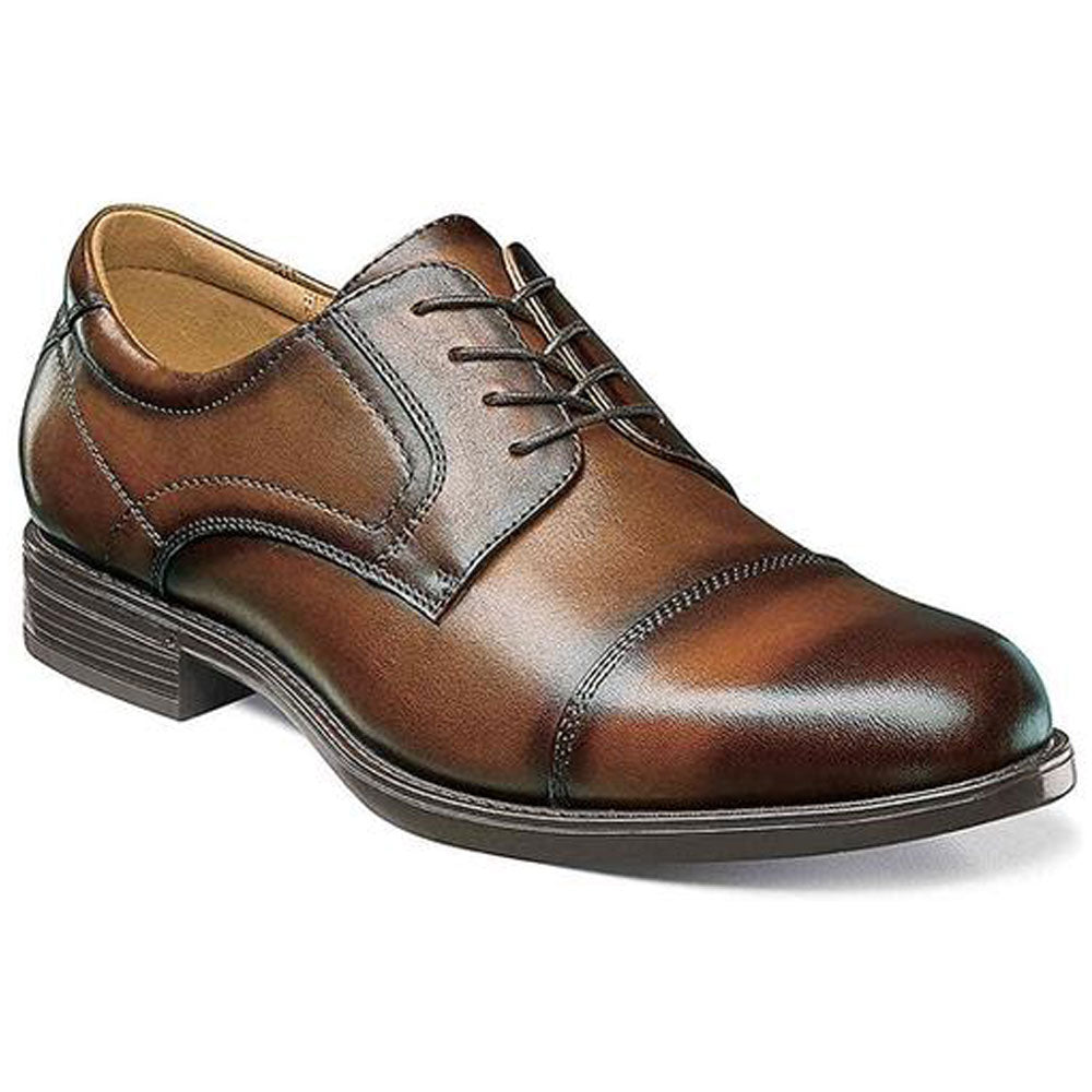 Midtown Cap Toe Oxford in Cognac Leather