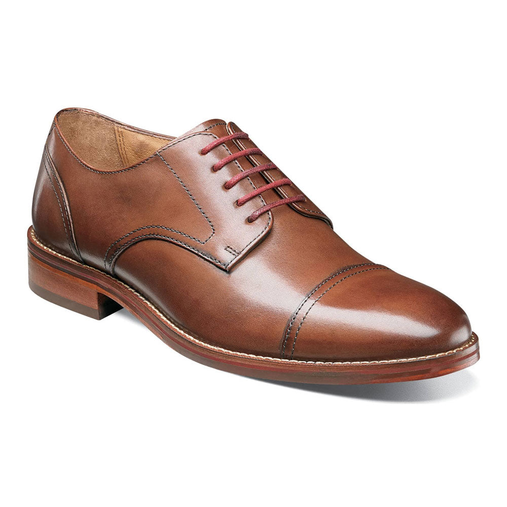 Salerno Cap Toe Oxford in Cognac Leather