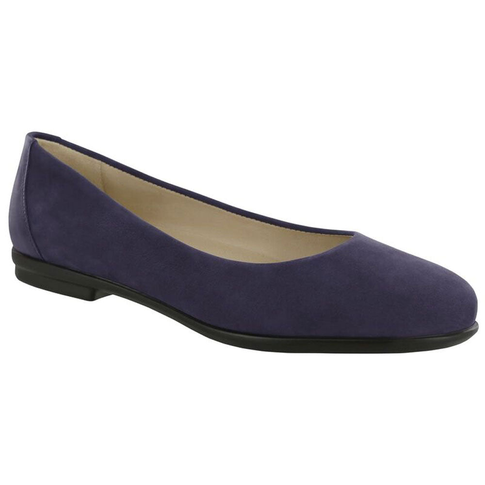 SAS Scenic Flat in Cosmic Blue Leather at Mar-Lou Shoes