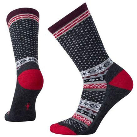 Cozy Cabin Crew Socks in Charcoal Multi
