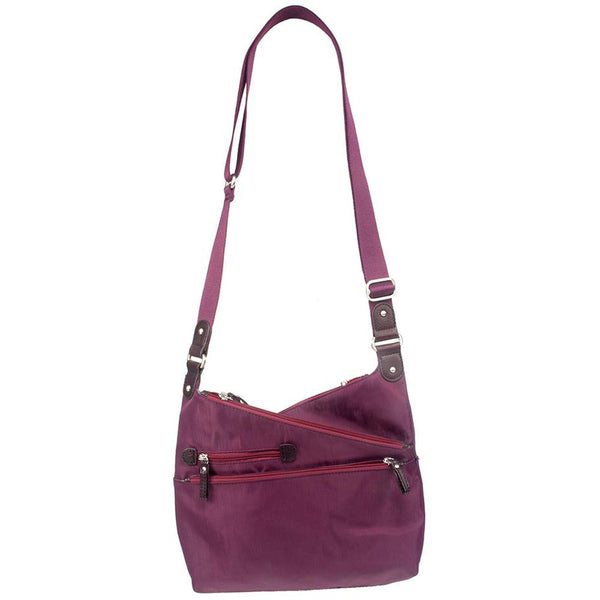 Osgoode Marley Kriss Kross Traveler in Cranberry Nylon at Mar-Lou Shoes