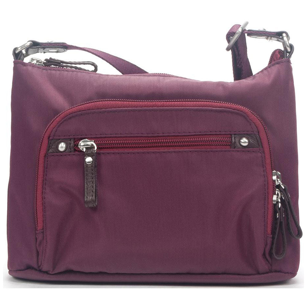 Osgoode Marley Stacey Crossbody in Cranberry Nylon at Mar-Lou Shoes