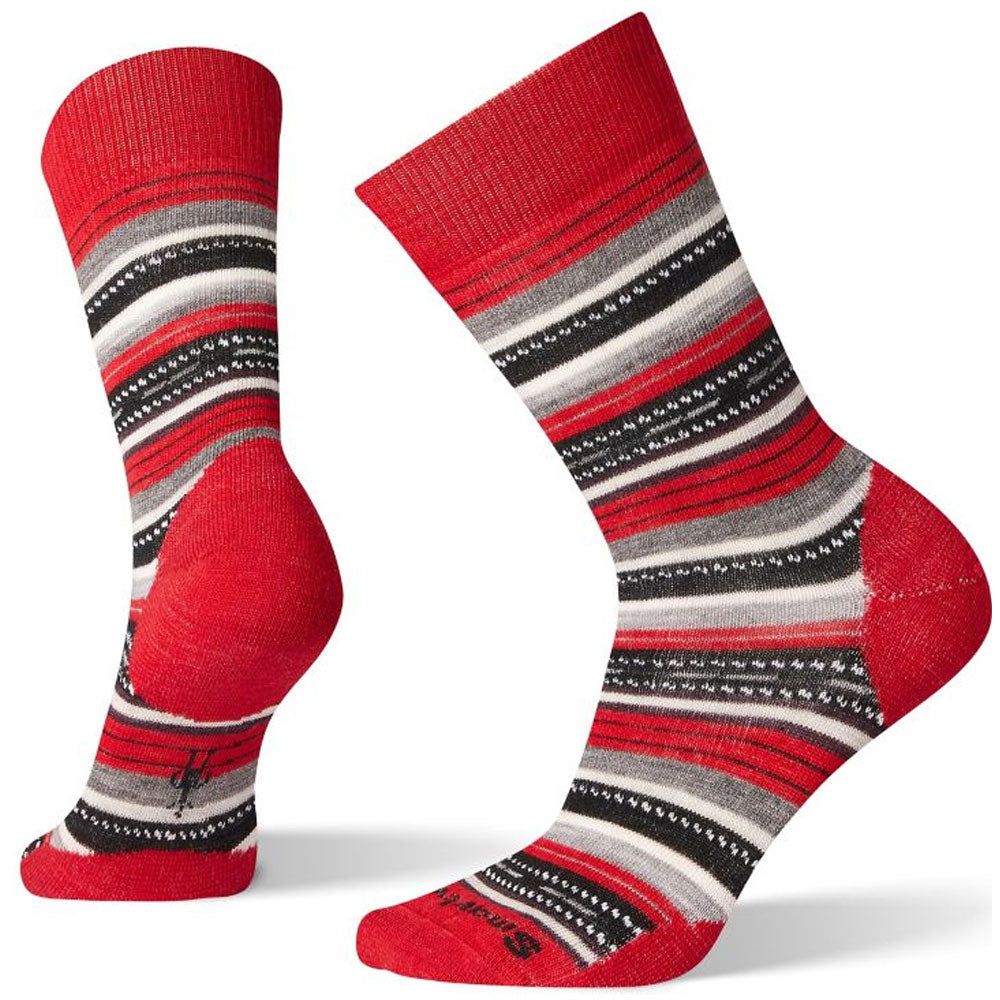 Smartwool Women's Margarita Socks in Crimson/Black at Mar-Lou Shoes