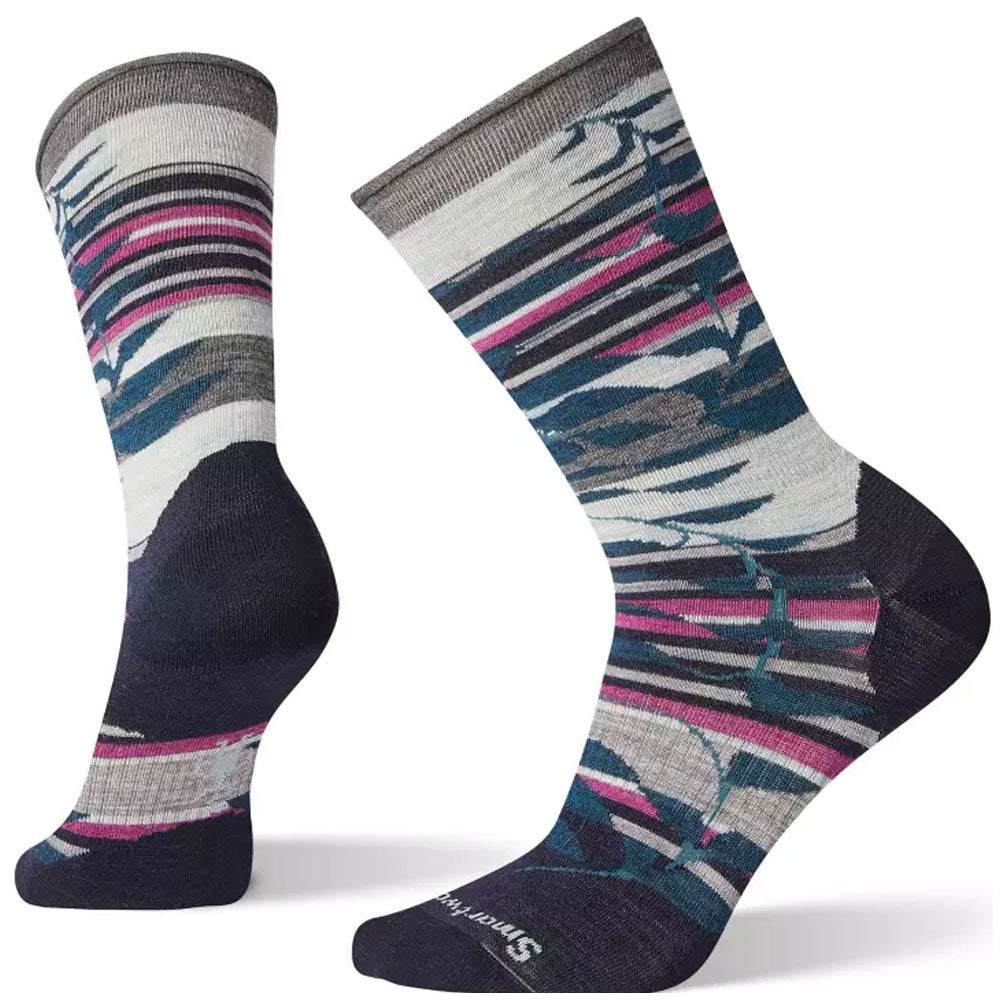 Smartwool Women's Non-Binding Pressure Free Palm Crew Socks in Deep Navy at Mar-Lou Shoes